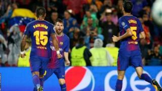 Messi afunga bao la 100, huku Barcelona ikiilaza Olympiakos