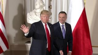 Trump iyo madaxweynaha Poland Andrzej Duda