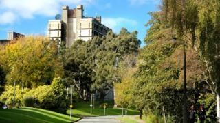View from the side of University of Canterbury New Zealand