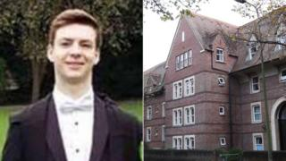 재판 전날 혐의를 벗은 올리버 미어스(왼쪽)와 그가 다니던 학교(오른쪽)