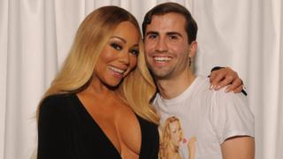 Mariah Carey with fan Jeffrey Ingold