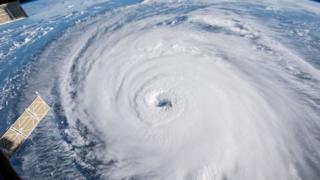 Huracán Florence visto desde arriba en una imagen de la NASA