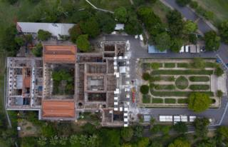 Aerial view of Brazil's National Museum