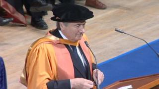 Blatter receiving degree De Montfort