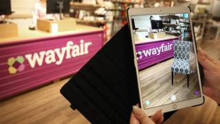 Inside a Wayfair store in the US