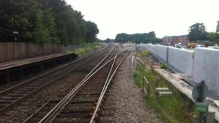 Site of new station in Bromsgrove