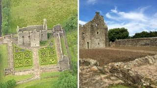 How Tully Castle looked before and after the work was done