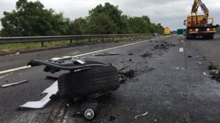 The M5 crash site