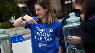 Scottish Water's campaign to encourage people to drink tap water from reusable bottles