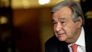 The new secretary-general of the UN, Antonio Guterres