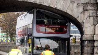 Bus stuck
