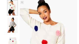 Pom pom jumper advert
