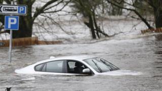 Flooding in Newton Stewart