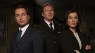 Line of Duty cast: Det Sgt Steve Arnott (Martin Compston), Supt Ted Hastings (Adrian Dunbar), Det Sgt Kate Fleming (Vicky McClure)