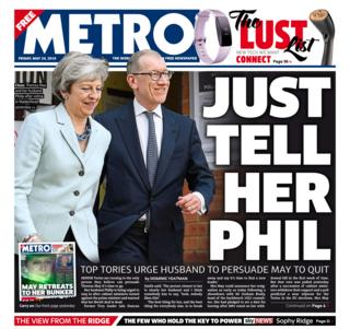 Metro front page - 24/05/19