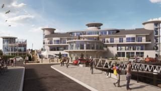 Artist's impression of maritime centre