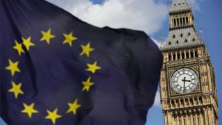 European flag at Westminster