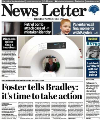 News Letter front page 20/02/18