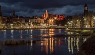 Inverness riverside an hour before sunrise
