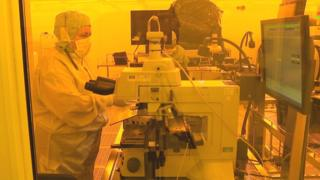 Staff working at Diodes plant in Greenock