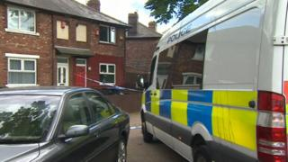 Police outside the house on Keith Road