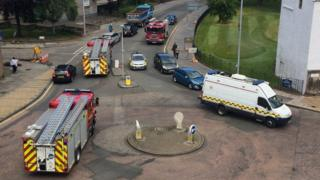 Fire engines at Holyrood