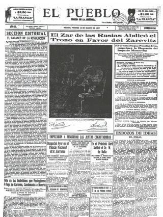El Pueblo - 16 марта 1917 год