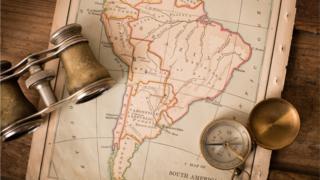 Mapa antigo, datado de 1870, mostra a América do Sul