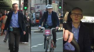 Walking, cycling and driving