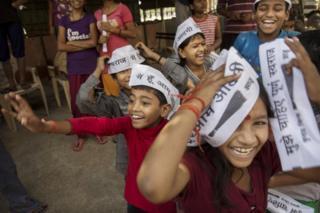 દિલ્હીમાં રમતા બાળકોની પ્રતિકાત્મક તસવીર