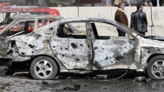 Scene of Damascus bomb blast (09/02/16)