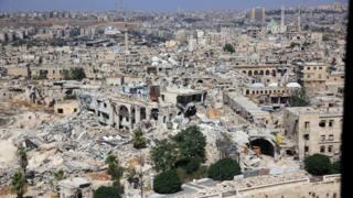 Разрушенные здания Алеппо. Сирия