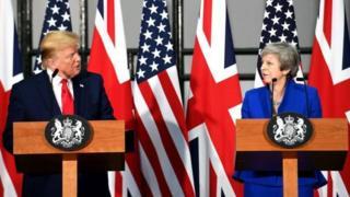 Donald Trump dan Theresa May Juni 2019