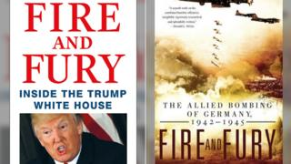 Covers of both Fire and Fury books