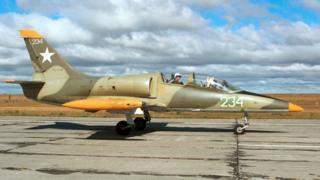 Архивное фото: один из учебных самолетов Л-39, на которых курсанты российских летных училищ учатся летать