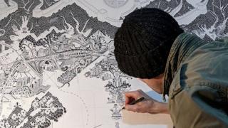 Gareth Wood drawing