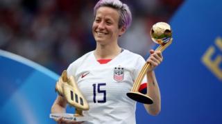 Megan Rapinoe fue elegida balón de oro y botín de oro del Mundial Femenino de Fútbol de la FIFA.