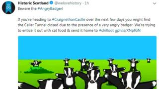 Historic Environment Scotland tweet