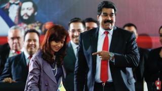 Cristina Kirchner e Nicolás Maduro.