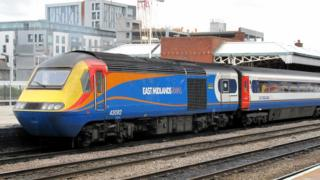 An East Midlands Train at Nottingham Station