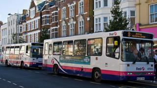 First Essex Buses at a stop