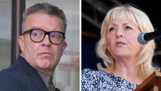 Tom Watson and Jennie Formby