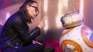 Thom Yorke and BB8
