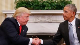 Дональд Трамп і Барак Обама