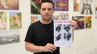 James Callaghan showing his poster