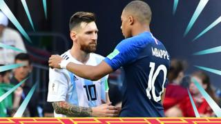 Lionel Messi and Kylian Mbappe
