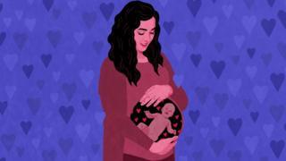 Ilustración de mujer embarazada