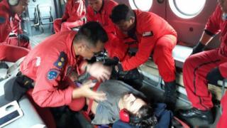 救助隊によると、アンドリュー・ギャスケルさんは栄養失調状態だが会話はできると