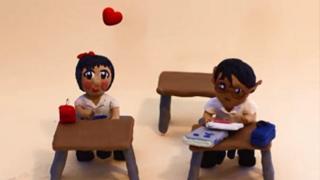 Animación de dos estudiantes.