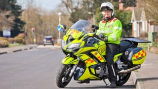 Isabel Kydd on her blood bike